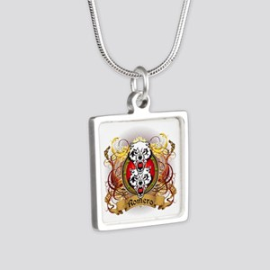 Romero Family Crest Silver Square Necklace